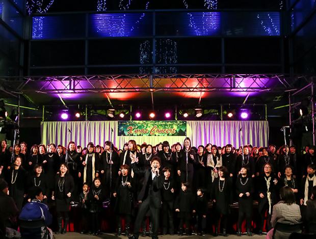 クリスマスコンサートinけやきひろばイルミネーション