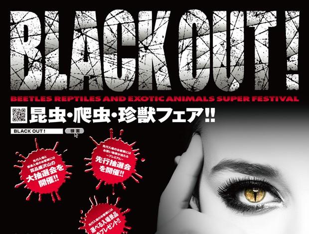 昆虫・爬虫・珍獣フェア‼《BLACK OUT!》