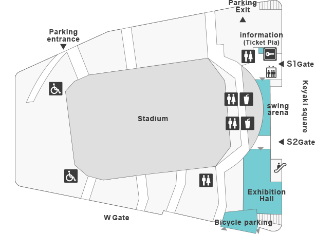 Floor MAP - Stadium | SAITAMA SUPER ARENA